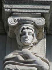 Mysterious Woman Dame Winter Caryatid NYC 5431 (Brechtbug) Tags: stone ladies courthouse roof statues across from madison square park new york city caryatid atlantid 2018 nyc 07152018 art architecture gargoyle gargoyles statue sculpture sculptures facade figures column columns court house law government building lady women woman figure form far east buildings mysterious dame winter seasons