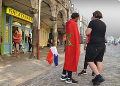Allez les bleus... mais pas trop (Jean-Luc Léopoldi) Tags: football worldcup finale rue drapeaux maroc turc place
