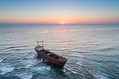 Desolate (JoshyWindsor) Tags: wreck dimitrios landscape sunset mvdemetriosii phantom4pro cyprus coralbay ocean grounded travel aerial seascape rusting beached shipwreck drone europe agnitravel derelict