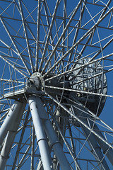 Axis Rotation (Josth91) Tags: axis eje rotacion rotation ferriswheel ferris wheel guayaquil ecuador metal white blanco azul sky cielo blue