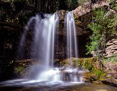 Troll Falls (begineerphotos) Tags: water waterfall alberta trollfalls troll trollwaterfall slow longexposure silkywater tree cliff