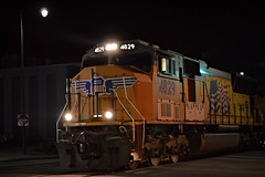 UP 4829 (builder24car) Tags: railfanning benchingthefreights streetrunning foreignpower unionpacific up4829 csx militarytrain w87118 fayettevillenorthcarolina