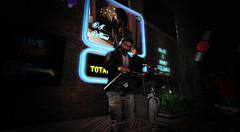 Working the Wednesday night late shift (Pejamus BleuArgenté) Tags: thefactory dj nightlife gaeg nomatchhair belleza legalinsanity