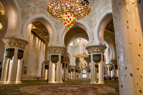 Chandeliers in the mosque, Sheikh Zayed Mosque, Abu Dhabi