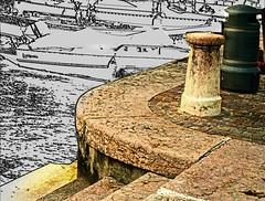 at the harbor (lucianomandolina) Tags: autumn lombardy herbst lombardei himmel sonne sky sun berge mountains wald grün green italien italia italy alpen als forrest idro garda