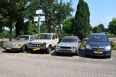 Wagenpark Haps (TedXopl2009) Tags: jp71lg lada niva 37zfsn mercedesbenz 17hbz9 honda