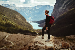 LET'S HIKE (Gaël Soucheleau) Tags: canada alberta national park banff banf lakelouise moraine morainelake forest water mountains rocks nature discover roadtrip trip travel traveladdict world vanlife women girl sky clouds lake enjoy view beautiful canon instagram 5d hike country adventure portrait image photography art artofvisual canonphotography amazing travelalberta explore outdoors montagne ciel lac voyage aventure hershell branding