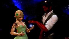 Vestalina & Rad Man (Lennik232) Tags: lennik poser cute kawaii fantasy elves longears pose vestalina 3d 3dart 3dfantasy