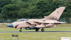 RAF Tornado (M J Robinson Photography) Tags: 2017 arrivals riat thursday royalinternationalairtattoo raf fairford britain british air force royalairforce panavia tornado gr4 zg750 pink pinky gulf war attack aviation photography nikon d7100 nikond7100