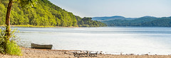 29th June 2018 (Rob Sutherland) Tags: canoe boat water sport coniston lake lakes lakeland lakedistrict cumbria cumbrian england english nationalpark ldnp britain british recreation outdoor health healthy persuit pursuit fitness fit lifestyle summer hot heat cool sunshine sun sunny north northern forest grizedale wood woodland tree shore beach pebble rock rocky stone stoney