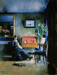 Harriet Backer - Blue Interior, 1883 at National Museum of Art Oslo Norway (skaradogan) Tags: oslo norway no harriet backer blue interior 1883 national museum art nasjonalmuseet for kunst museo musée musee muzeum museu musum müze museet finearts fine arts gallery gallerie beauxarts beaux galleria painting norkse norge noreg norwegen noruega norvège norvegia 노르웨이 挪威 норвегия norwegian impression impressionist impressionism nasjonalgalleriet