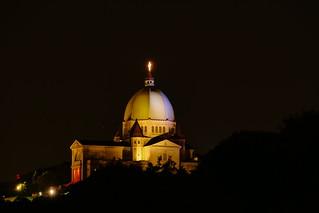 The Landmark Saint Joseph's Oratory At Night