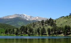 The Devil's Armchair (Patricia Henschen) Tags: sanisabelnationalforest nationalforest mountains mountain sawatch range mtouray mt ouray 13er marshallpass saguache county backroads rural lake ohaver campground reservoir recreation devilsarmchair reflection chaffee