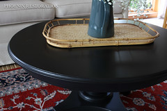 Round Black Coffee Table-3 (Phoenix Restoration | Furniture by Christina) Tags: phoenix restoration general finishes lamp black coffee table eclectic painted furniture