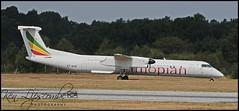 ET-AVR De Havilland Canada DHC-8-402NG c/n 4581 Ethiopian Airlines (EGLF-Farnborough) 14/07/2018 (Ken Lipscombe <> Photography) Tags: etavr de havilland canada dhc8402ng cn 4581 ethiopian airlines eglffarnborough 14072018
