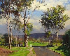 Landscape near Aratula Qld (MikeC4503) Tags: painting art landscape trees acrylic