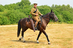16th Lancers Display Troop (9) (masimage) Tags: eheritagecentre trackstotrenches trackstotrenches2018 cavalry britisharmy wwi worldwari greatwar britishsoldier horse reenactment reenactor tommy tommies war wartime
