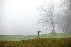 Avon, CT - 12/14/15 - #365 (joefgaylor) Tags: golf golfer golfing course avon connecticut sports putting green fog newengland fjgaylor josephgaylorphotographer fineartphotography joegaylorphotography joegaylor
