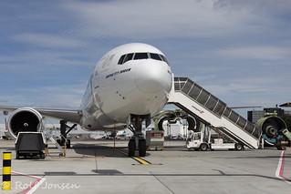 A6-ENE Boeing 777-300ER Emirates Glasgow airport EGPF 23.06-18