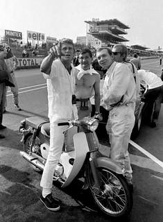 Steve McQueen on Honda C50