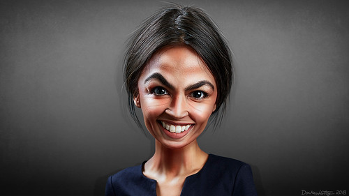 From flickr.com: Alexandria Ocasio-Cortez - Caricature {MID-303111}