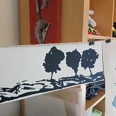 Screen printing, wip (Mónica Leitão Mota) Tags: screen printing textileart fibreart