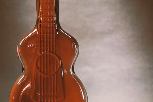 Souvenir Guitar Bottle of Glass