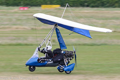 G-CBEV - 2001 build Cyclone Airsports Pegasus Quantum, arriving on Runway 26L at Barton during FlyUK 2018 (egcc) Tags: 7854 barton cityairport cycloneairsports egcb flexwing gcbev lightroom manchester microlight pegasus quantum smith weightshift flyuk