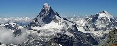 Titans (Alpine Light & Structure) Tags: switzerland schweiz suisse alps alpen alpes zermatt matterhorn dentdherens cervin cervino