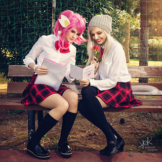 League of Legends School Days Group Cosplay Photoshoot, by SpirosK photography: Lux and Ashe