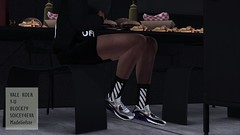 Cheat Day V5 (Hodari Hathor) Tags: urban food secondlife mesh photoshoot photography shoes dope mensfashion malemodel loft condo mcdonalds cheatday munchies burgers fries frenchfries chips off white urbanfashion sl slavi slblogger photoshop