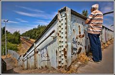 Watching the trains go by..... (david.hayes77) Tags: ferryboatlane olddenaby mexborough southyorkshire tpe transpennineexpress railfan footbridge rivets class185 desiro 2018 graffiti