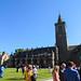 Sallies Quad and Chapel after a graduation ceremony