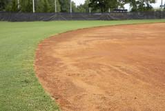 Infield meets outfield (milepost430media.com) Tags: stadium baseball field sport athletics game dslr canon 5d markiv infield outfoeld dirt turf grass