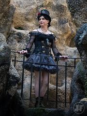 Steampunk lady (blackietv) Tags: steampunk black lace dolly corset hat crossdresser tgirl transvestite crossdressing transgender outside outdoor