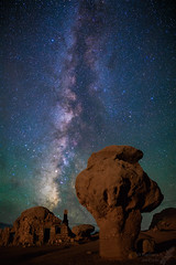 Balanced Rock (and rock house) at the Vermilion Cliffs (Squirrel Girl cbk) Tags: 2018 arizona july milkyway balancedrock night stars rockhouse vermillioncliffs