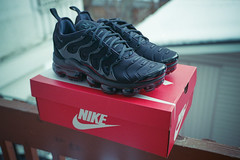 (ニノ Nino) Tags: nike vapormax plus tn black triple airman air max swoosh sneakers trainers sneakerhead sneakerheads crep creps kodak ultramax 400