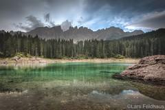 ...the lake. (lars feldhaus) Tags: nature mountains dolomites europe summer water rocks roadtrip travel clouds