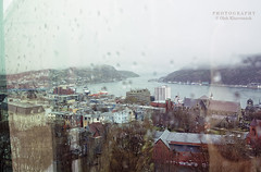 St. John's through the glass (Oleh Khavroniuk (Khavronyuk)) Tags: nikon nikkor canada atlanticcanada newfoundandlabrador newfoundland stjohns explorecanada explorenl glass drops raindrops weather fog foggy rainy downtown city cityscape cityview buildings houses architecture town travel flickr geotagged candid new digital d7100 harbour harbor water ocean atlantic citylife house old oldport outside national storm rain wasser port ships ship 365 photo photography