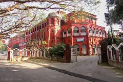 Central Railway Building (CRB), Chittagong, Bangladesh. (Galib Emon) Tags: centralrailwaybuilding chittagong bangladesh explorebangladesh outdoor travel flickr canoneos7d crb landscape red colour oldbuilding galibemon sunlight explore