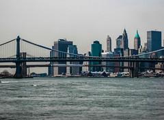 East River, Manhattan Island Cruise 2011 (bobbex) Tags: skyscrapers cityscape skyline nyc ny manhattan usa newyork manhattanbridge brooklynbridge water bigapple empirestatebuilding