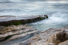 Rocks and Waves (Photos By Clark) Tags: california cities subjects beachshots location canon2470 unitedstates northamerica sandiego canon5div locale places where us water rocks pacific ocean waves bluehour lightroom nik colorefx thesandiegoist