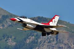 Thunderbird 5 (alan.griffin16) Tags: usaf thunderbirds f16 hillafb airshow airforce mountains