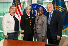 Liberia Minister of Health with CDC Leadership