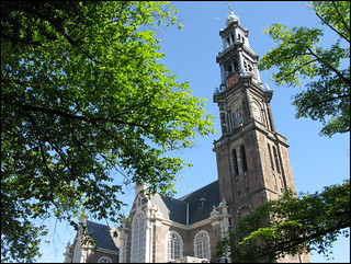 Westerkerk church in the summer, Amsterdam, Netherlands