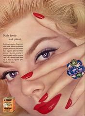 Knox Gelatin 1958 (barbiescanner) Tags: knoxgelatin vintage retro fashion vintagefashion 50s 50sfashions 1950s 1950sfashions 1958 seventeen vintageads heatherhewitt