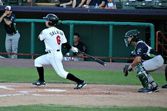 BASE HIT (MIKECNY) Tags: baseball minorleague nypennleague astros hit batter catcher tricityvalleycats vermontlakemonsters dugout