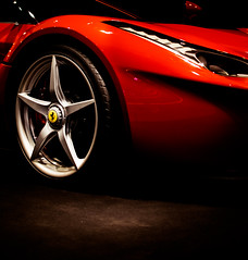 La Ferrari (Portrait) (relishedmonkey) Tags: nikon d5300 ferrari back lights round red indoor exhaust pipes 35mm 18g car vehicle automobile auto ferrariworld abu dhabi uae la