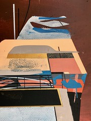 Jim Harris: Sutton-under-Whitestonecliffe. (Jim Harris: Artist.) Tags: art arte lartabstrait painting abstractart modernart futuristic futurism maalaus malerei málverk målning schoolofthemuseumoffinearts schilderij
