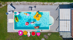 856177142 (bluehavenpoolsandspas) Tags: friends group party pool swim shaped summertime view airbeds tanning cool leisure italy ita